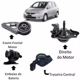 Kit 04 Calços Coxins Motor Câmbio Fit De 2003 A 2008 Manual