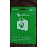 Tarjeta Xbox 300 Pesos E
