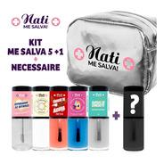 Kit Esmaltes Fortalecedor Nati Me Salva 2.0 + Necessaire