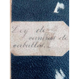 Ley De Carrera De Caballos Año 1917