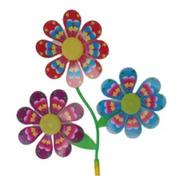 Catavento 3 Flores Artificiais Decoração Festa E Jardim Vovó