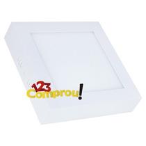 Painel Plafon 12w Led Quadrado Teto Sobrepor Branco Frio