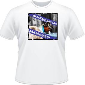 Camiseta Miau Coleção Memes Camisa Masculina Branca