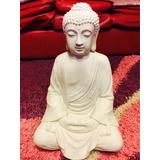 Buda De La Oracion 55 Cm En Yeso Con Cemento