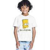 Camiseta Bart Sou Um Anjinho Moda Roupa Infantil Menino