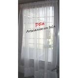 cortinas visillos tela voile niza para puertas o ventanas