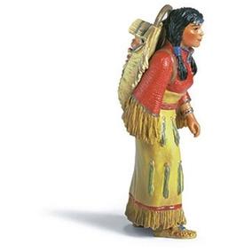 Schleich Réplica De Figura De Mujer Sioux, Color Amarillo Co