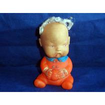 Boneca Bebezinho Antiga Usada De Borracha Com 12cm De Altura