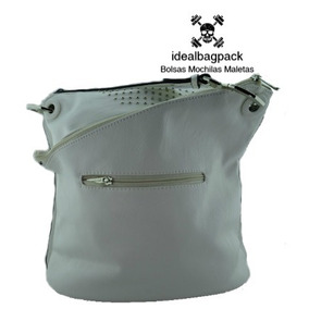 Bolso David Jones Color Blanco Elegante De Piel