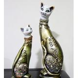 Gatos En Ceramica Pareja
