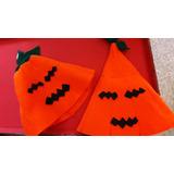 Gorros Capucha Paño Calabaza Halloween Niños