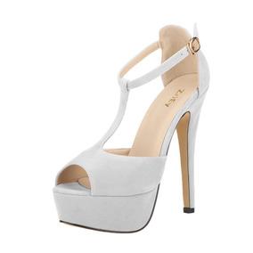 Zapatos De Novia Blancos Perlados Americanos