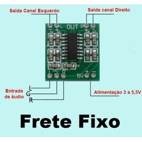 Mini Amplificador Estéreo 2 X 3 Watts Rms ( Frete R$ 12,00)
