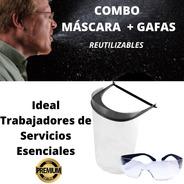 Mascara Barbijo Facial Gafas Combo Reusable Agnovedades