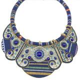 Maxi Colar Pedras Em Tons De Azul Moda Fashion Moda Verão.