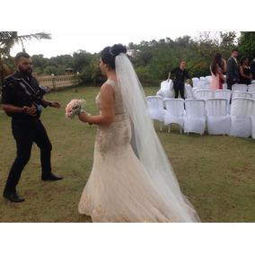 Vestido De Noiva C/ Véu - Importado