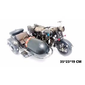 Motocicleta Dupla Retro Artesanal Metal