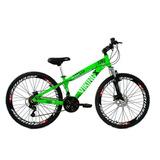 Bicicleta Vikingx Freeride Aro 26 Freio A Disco Bike Verde