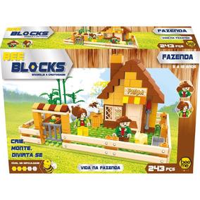 Blocos De Montar - Vida Na Fazenda 243 Peças - Bee Blocks