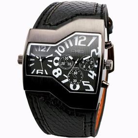 Oulm Reloj Luxury Militar Doble Cara Hora Envio Gratis