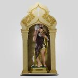 Capela Com Imagem De São João Batista (42cm) - Inquebrável