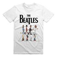 Playera The Beatles Abbey Road Snoopy