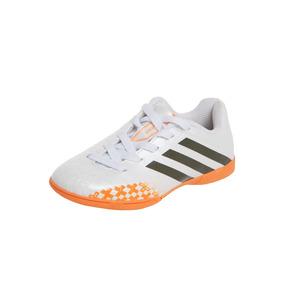 Chuteira Futsal adidas Predito Lz Branco E Laranja F32607
