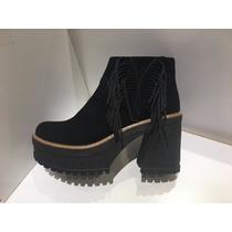 Zapatos Botas Colección 2017 Última Moda En Negro Y En Suela