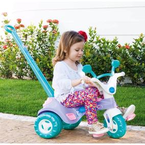 Triciclo Infantil Charmosa Menina Empurrador C/ Frete Grátis