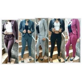 Conjunto Feminino Casaco Calça Modelo Ribana (tecido Cotton)
