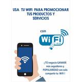 Sistema Wifi Social De Publicidad Para Tu Negocio