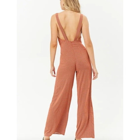 Forever 21 Jumpsuit Palazo Lunares Color Teja Talla Gde