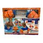 Niño-Naranja con azul marino