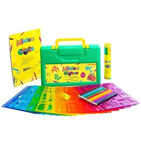 Mimtom Dibujo Plantillas Kit Para Niños | 58 Pc Conjunto De