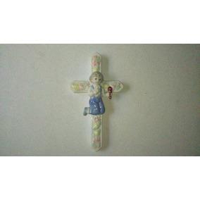 Cruz De Ceramica, Con Niño