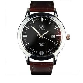 Relógio Masculino Pulseira De Couro Original De Alto Luxo