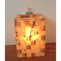 Lavabo De Onix De 60 X 50 X 85 Cm.de Alt. Con Iluminación