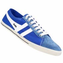Zapatillas Gola Quarter Azul Francia Originales Nuevas