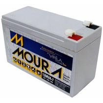 Kit Com 10 Baterias Moura Vrla - 12v 7ah P/ Nobreak, Alarme