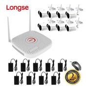 Kit Cctv Longse Wifi Xvr 2mp 8ch + 8 Cámaras De Seguridad