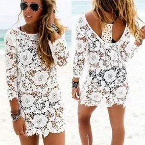 Vestido blanco para nina de playa