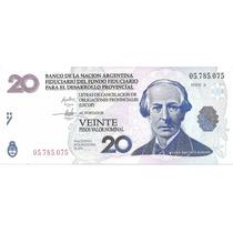Billete Argentina Bono 20 Lecop Ec#206 Sin Circular Palermo