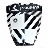 Deck Prancha Surf Soul Fins Fissure Brco/prto Antiderrapante
