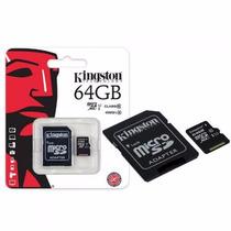 Memoria Micro Sd Kingston Premier Celulares Clase 10 De 64gb