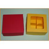 70un Caixas/embalagens P/4 Doces-coloridas Visor Em Acetato