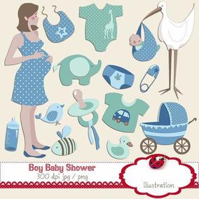 Kit Imprimible Bebe Niño Nene Baby Shower 15 Imagenes Clipar