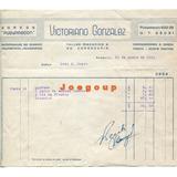 Boleta Garage Pueyrredon Taller Mecanico Rosario 1941