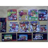 Pack De 4 Etiquetas Para Juegos De Nintendo 64, Gb Y Snes