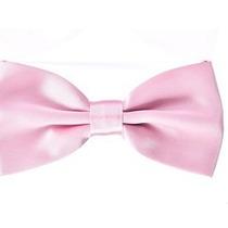 Gravata Borboleta Rosa Bebê Com Regulador Adulto