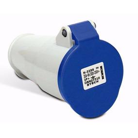 Acople 2p + T 16a 200/250v 6h Azul N-3056 Ip44 Steck